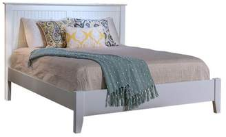 Thor's Elegance Cottage Panel Bed With Low Footboard, Coastal White, Full