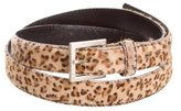 Bottega Veneta Ponyhair Leopard Belt