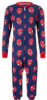 Spiderman Children's All-Over Print Onesie, Navy