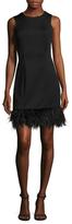Donna Ricco Fringe Trimmed Sheath Dress