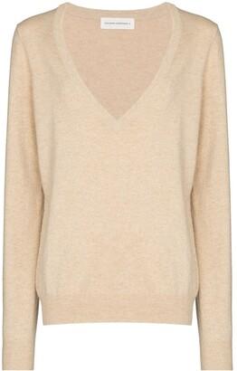 Extreme Cashmere deep V-neck cashmere jumper