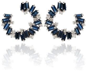 Suzanne Kalan 18kt White Gold Sapphire Diamond Earrings