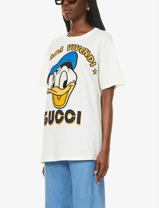 Gucci Disney x Donald Duck cotton-jersey T-shirt