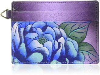 Anuschka Anna by Credit Card Case | Leather Hand-Painted Original Art