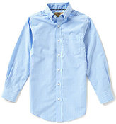 Class Club Gold Label Big Boys 8-20 Long-Sleeve Small Check Shirt