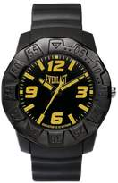 Everlast 33-218 Unisex Quartz Watch with Black Dial Analogue Display and Black Plastic or PU Strap EV-218-001