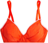 Araks Antonia Cotton-jersey Soft-cup Bra - Tomato red