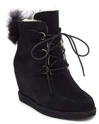 Australia Luxe Collective Dudley Genuine Sheepskin Fur Lined Hidden Wedge Boot