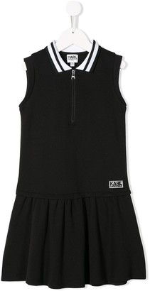 Karl Lagerfeld Paris Flared Polo Dress