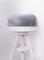 Missy Empire Delia Light Grey Faux Fur Headband