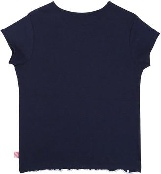 Billieblush Girls Short Sleeve EmbroideredLogo Hem T-Shirt - Navy