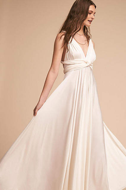 Anthropologie Ginger Convertible Maxi Wedding Guest Dress