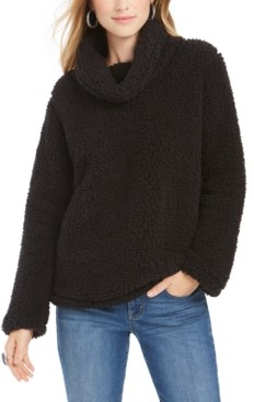 Style&Co. Style & Co Petite Cowlneck Sherpa Pullover, Created for Macy's