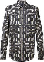 Versace tribal print slim shirt - men - Cotton - 40