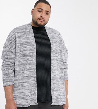 Asos Design DESIGN Plus oversized cardigan in grey twist