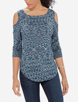The Limited Marled Cold Shoulder Sweater