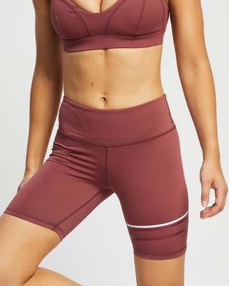 Lilybod - Women's Red Tights - Lewis Shorts - Size XS at The Iconic