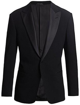 Giorgio Armani Chevron Textured Jacket
