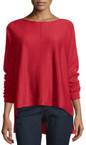 Eileen Fisher Long-Sleeve Merino Boxy Sweater