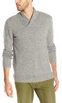 Pendleton Men's Long Sleeve Shawl Collar Sweater, Grey Donegal
