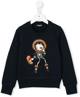 DSQUARED2 sweet girl and fox print sweatshirt