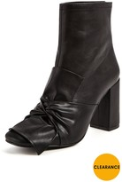 Very Lizzie Knotted Bow High Ankle Boot