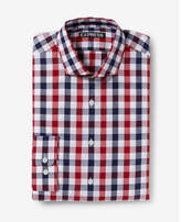 Express modern fit small check dress shirt