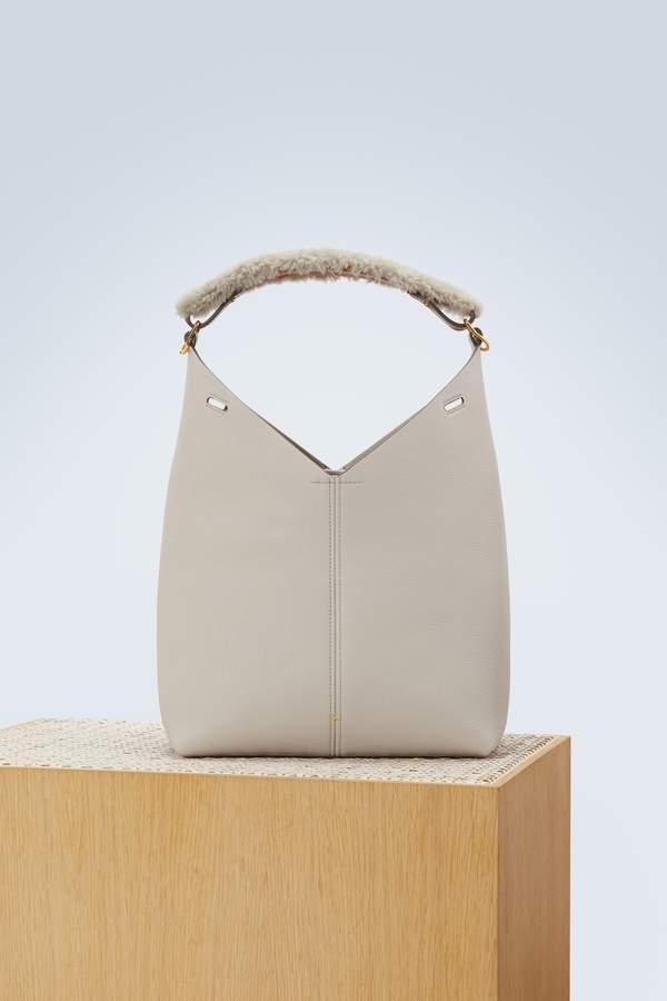 Anya Hindmarch Handbag with a shearling handle