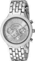 August Steiner Women's ASA839WT Swiss Quartz Multifunction Ceramic Bezel Watch