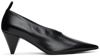 Jil Sander Black Leather Heels