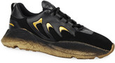 Roberto Cavalli Men's Viper Suede & Leather Snake-Effect Sneakers