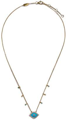 Djula Yellow Gold and Diamond Eye Necklace