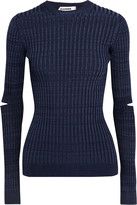 Jil Sander Cutout ribbed-knit sweater