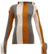 Palmer Harding Palmer//Harding Palmer//harding - Shift Striped Cotton And Cashmere-blend Sweater - Womens - Multi