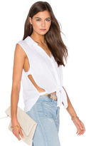 Lanston Button Down Cut Out Tank