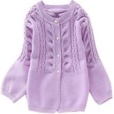 JELEUON Little Girls Long Sleeve Button Front Knit Cardigan Sweater 140