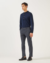 Jigsaw Check Suit Trouser