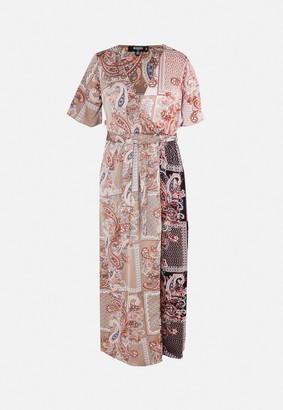 Missguided Plus Size Rust Paisley Print Maxi Dress