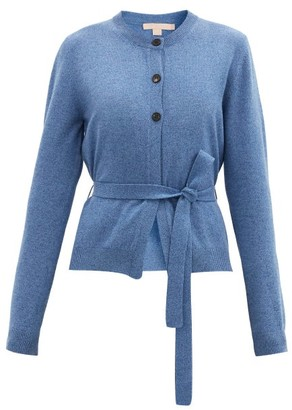 Brock Collection Ramo Belted Wool-blend Cardigan - Blue