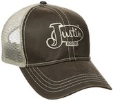 Justin Boots Men's Cotton Twill Oil Cloth Ball Cap with Mesh Back