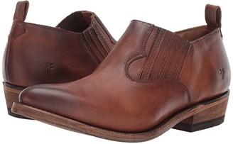 Frye Billy Shootie (Black Red Polished Soft Full Grain) Women's Slip on Shoes