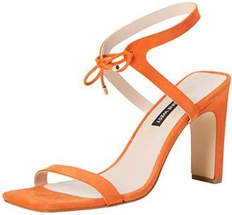 Nine West LONGITANO, Women's Ankle-Strap, Orange (Tropic Orange), (9 US)