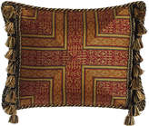 """Sweet Dreams Exotica Crimson & Gold Pillow with Side Tassels, 15"""" x 20"""""""