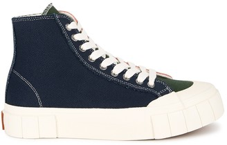 Good News Palm panelled canvas hi-top sneakers