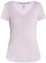 TODD SNYDER + CHAMPION V-neck cotton-blend jersey T-shirt
