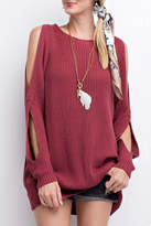 Easel Cold Shoulder Sweater