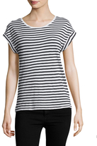 Splendid Striped Roll Up Tee