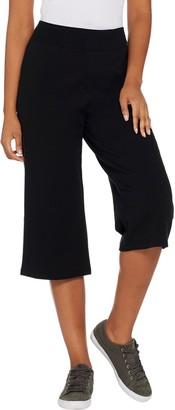Denim & Co. Active Pull-On Wide Leg Knit Capri Pants