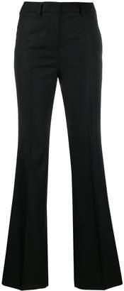 Incotex high waist flared trousers