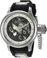 Invicta Men's 'Russian Diver' Mechanical Hand Wind Stainless Steel and Polyurethane Casual Watch, Black (Model: 80114)